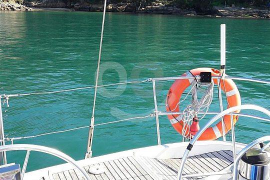 sailing from Vigo along Ría de Vigo
