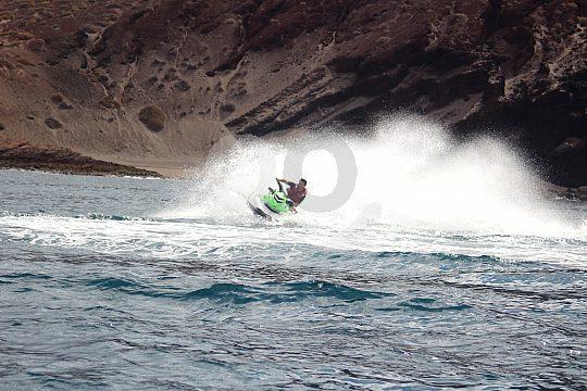 Full throttle on Tenerife with the jet ski