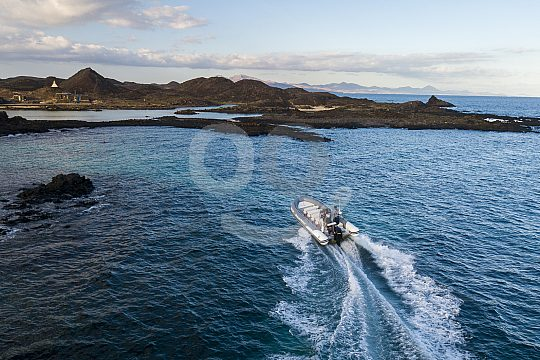 Water taxi in the north of Fuerteventura