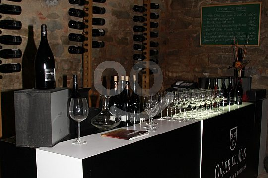 bar at the sparkling wine tasting in Ca n'Estella