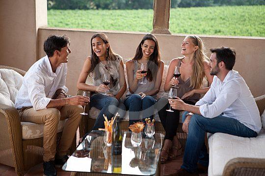 near Barcelona on wine tasting in Oller del Mas