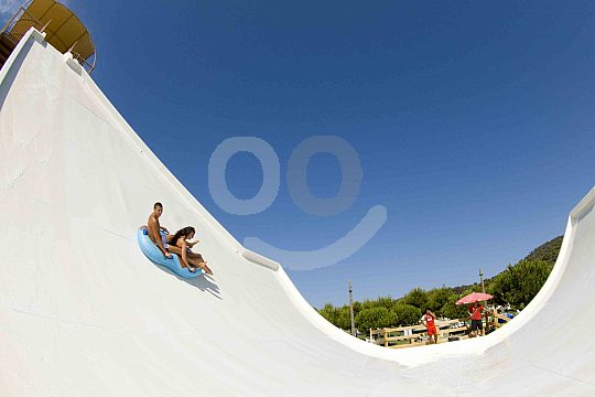 The half pipe in the Western Water Park Mallorca