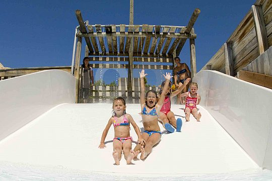 Slides for the small ones at Lago la Mina in Wester Water Park Magaluf
