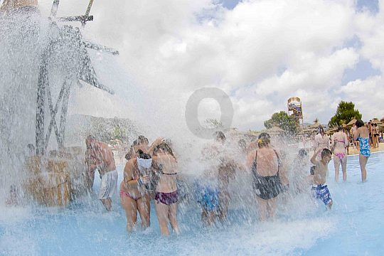 Adults play too in the Western Water Park Majorca