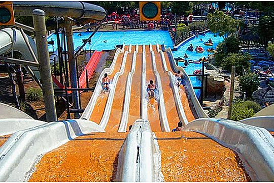 Magaluf Western Water Park family slide