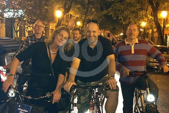 biking in Valencia at night