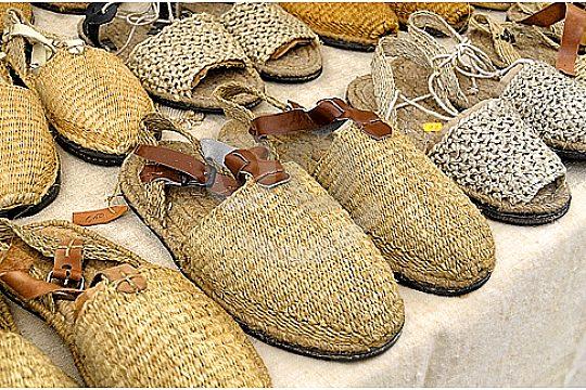 shoes at Inca market