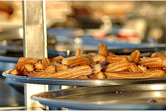 Churros visit Majorcan market