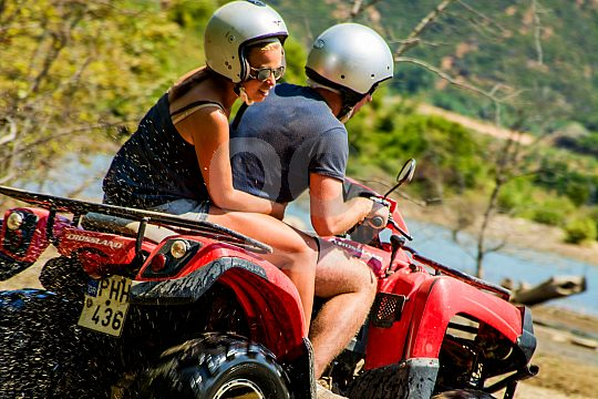 Fun for two on quads on the divine island