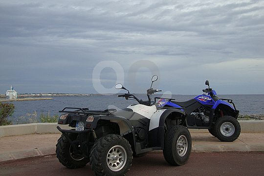 With the quads to the beach Menorca