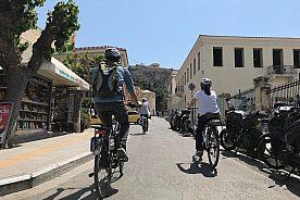 E-Bike Tour Athen Blick auf Akropolis