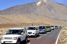 Jeeps in der Kolonne Teneriffa Jeep Safari