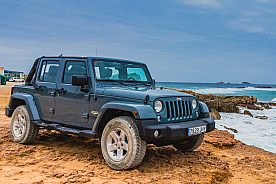 Ibiza im Jeep Wrangler