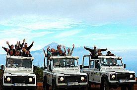 Jeep Safari Teneriffa Masca drei Jeeps mit den Teilnehmern