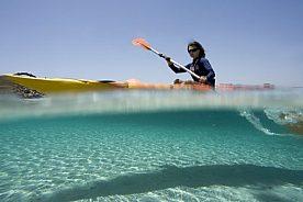 Kayak fahren im Norden Menorcas