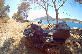 """Quad tour Majorca """"Quad and Snorkeling"""", starting from Andratx"""