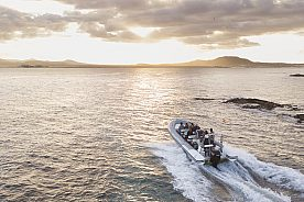 Watertaxi to the island of Lobos in Fuerteventuran North