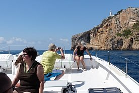 schöne Aussichten bei Bootstour ab Javea