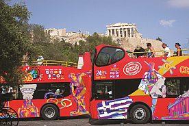 Hop-on Hop-off Stadtrundfahrt in Athen Akropolis