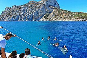 Katamaran-Calpe-schwimmen