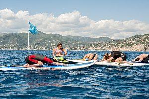 Entspannungsübungen auf dem Board