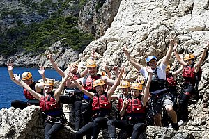Tuck into adventure - check out coasteering in Mallorca