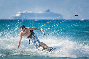 Kitsurfing courses in Rhodes - courses for beginners and experienced kiters in Theologos