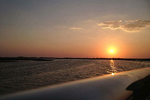 A boat tour from Olhão for sunset and barbecue in the restaurant