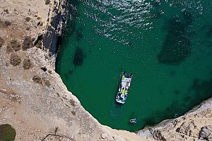 Grottenfahrt in Benagil an der Algarve