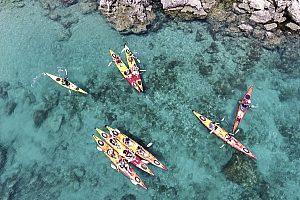 Kayaking in Rhodes: great seakayaking trip starting from Kathara Beach along Faliraki coastline