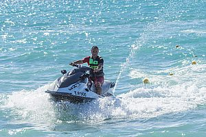 Great water sports on Rhodes - jet skiing on the coast of Theologos