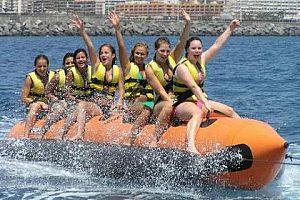Banana boat trip on Tenerife in the south (Playa de las Americas)