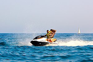 Ride a jetski in Barcelona - no boating licence necessary