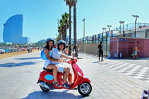 Rent a scooter in Barcelona and explore the city stylish by Vespa