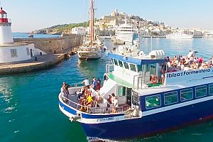 All year round by ferry from Ibiza to Formentera - from the south