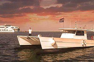 Sonnenuntergang vor Denia auf dem Boot