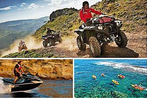 Triple fun - savings pack in Dénia: 30 min jetski, 1 hour quad, 1 hour kayak / SUP