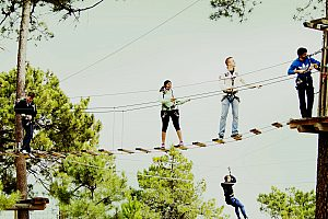 Benidorm theme park: high ropes courses in La Nucia