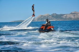 A brand new experience: flyboarding in Mallorca in Port de Pollenca (north)