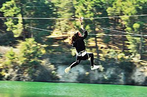 High Rope Park Madrid: Adventure Park and Zip Line Course in Guadarrama