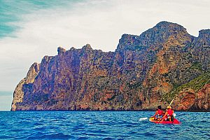 Impressive Majorca kayak tour near Pollensa with snorkeling & cliff-jumping