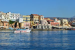 Glass bottom boat trips in Crete starting from Chania harbour