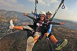 Paragliding from Salou over the Mussara Mountains near the Costa Dorada