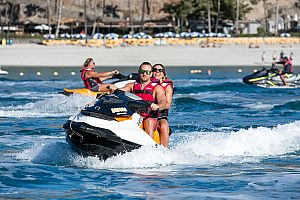 Jet ski Gran Canaria: cool watersports at Anfi del Mar beach  (south coast)
