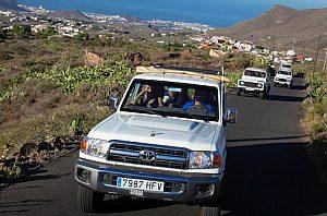 Offroadstrecke bei der Jeepsafari auf Teneriffa