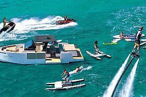 Wassersport-Erlebnis auf Designer Yacht in Ibiza