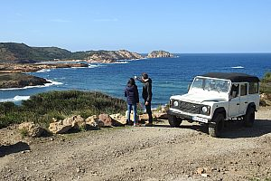 Adventurous jeep safari in Menorca with island-wide pick-up