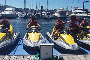 Jet ski along the Ria de Arosa - exciting tour from Vilagarcia in Galicia