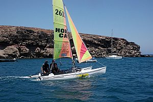 Catamaran tour with skipper in Fuerteventura in the Southeast of the island