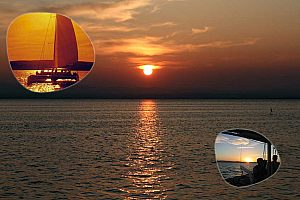 Sunset catamaran cruise near Valencia from Port Gandia